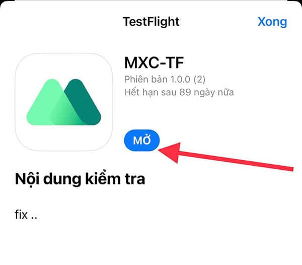 Ứng dụng mxc